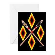 SOUTHEAST TRIBAL STICKBALL Greeting Cards (Pk of 1