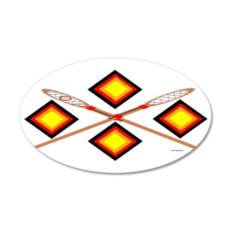 SOUTHEAST TRIBAL STICKBALL 20x12 Oval Wall Decal