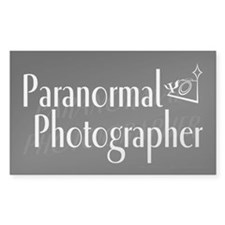 Paranormal Photographer Dark Rectangle Decal