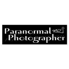 Paranormal Photographer Dark Bumper Bumper Sticker