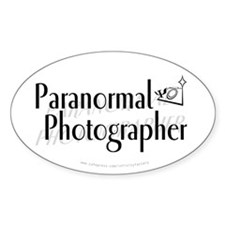 Paranormal Photographer Oval Decal
