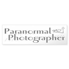 Paranormal Photographer Bumper Bumper Sticker