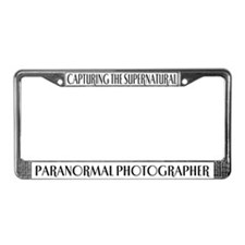 Paranormal Photographer License Plate Frame
