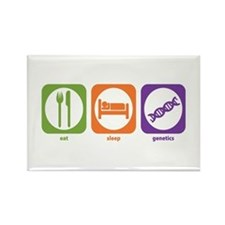 Eat Sleep Genetics Rectangle Magnet