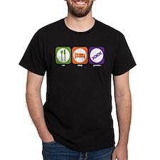 Eat Sleep Genetics Black T-Shirt