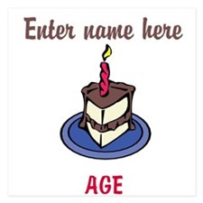 Personalized Birthday Cake Invitations