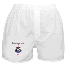 Personalized Birthday Cake Boxer Shorts