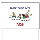 Personalized Birthday Train Yard Sign