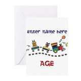 Personalized Birthday Train Greeting Cards (Pk of