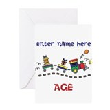 Personalized Birthday Train Greeting Card