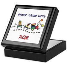 Personalized Birthday Train Keepsake Box