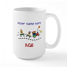 Personalized Birthday Train Mug