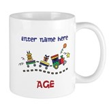 Personalized Birthday Train Mug