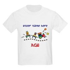 Personalized Birthday Train T-Shirt