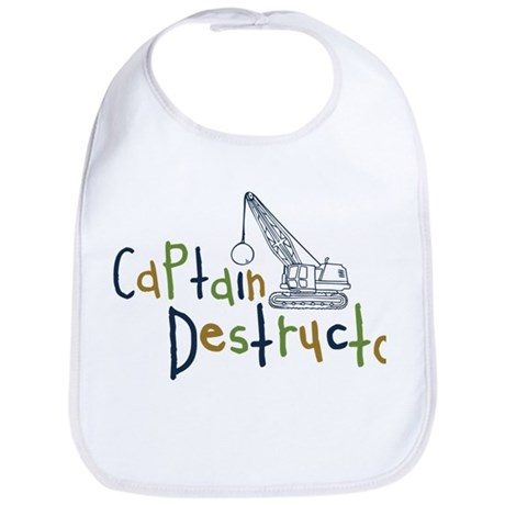 Captain Destructo Bib