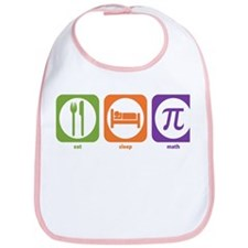 Eat Sleep Math Bib