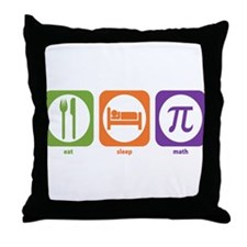 Eat Sleep Math Throw Pillow