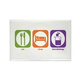 Eat Sleep Microbiology Rectangle Magnet (10 pack)