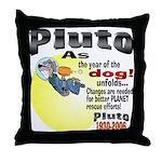 Pluto 1930-2006 Throw Pillow