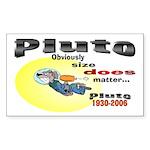 Pluto 1930-2006 Rectangle Sticker