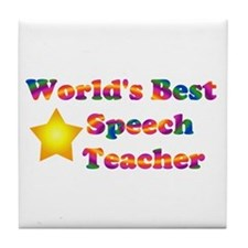Speech Teacher Tile Coaster