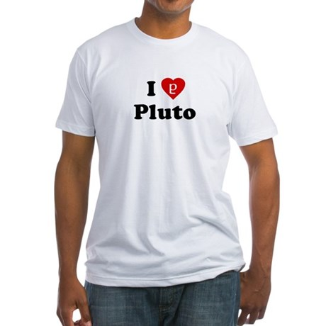 I Heart Pluto Fitted T-Shirt
