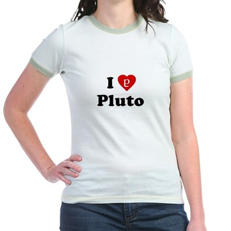 I Heart Pluto Jr Ringer T-Shirt