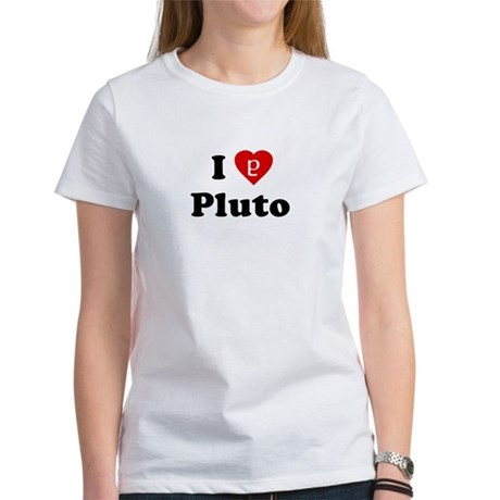 I Heart Pluto Womens T-Shirt