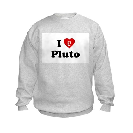 I Heart Pluto Kids Sweatshirt
