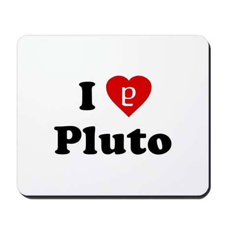 I Heart Pluto Mousepad