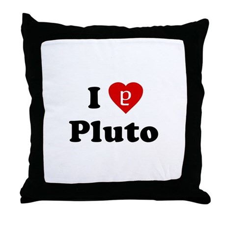 I Heart Pluto Throw Pillow