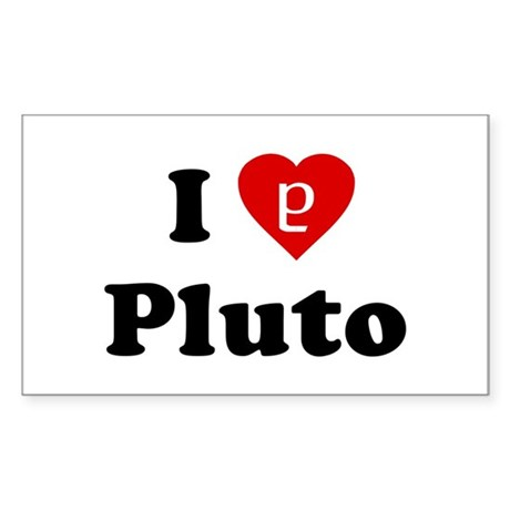 I Heart Pluto Rectangle Sticker
