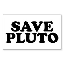 Save Pluto Rectangle Decal
