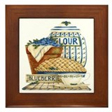 Blueberry Fixin's Framed Tile