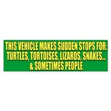 Reptile Lover Bumper Bumper Sticker