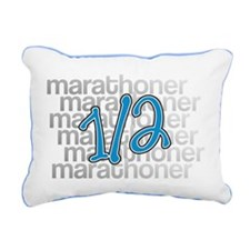 13.1 Half-Marathoner Rectangular Canvas Pillow