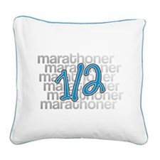 13.1 Half-Marathoner Square Canvas Pillow