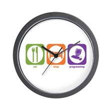 Eat Sleep Programming Wall Clock