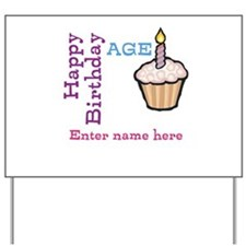 Personalized Birthday Cupcake Yard Sign
