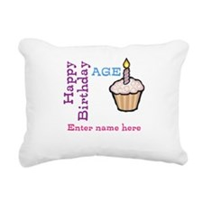 Personalized Birthday Cupcake Rectangular Canvas P