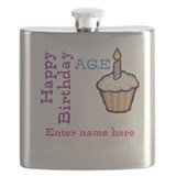 Personalized Birthday Cupcake Flask