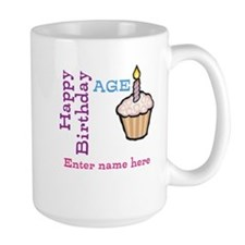 Personalized Birthday Cupcake Mug