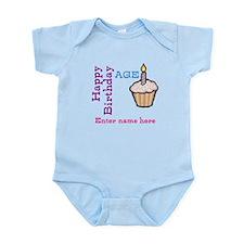 Personalized Birthday Cupcake Infant Bodysuit
