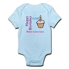 Personalized Birthday Cupcake Onesie