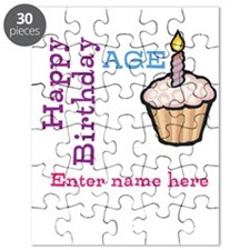 Personalized Birthday Cupcake Puzzle