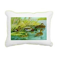 Mallard Family Rectangular Canvas Pillow