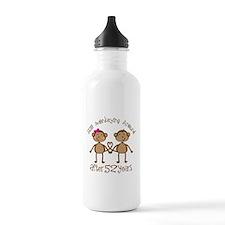 52nd Anniversary Love Monkeys Water Bottle
