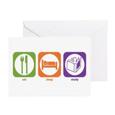 Eat Sleep Study Greeting Cards (Pk of 10)