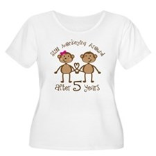 5th Anniversary Love Monkeys T-Shirt