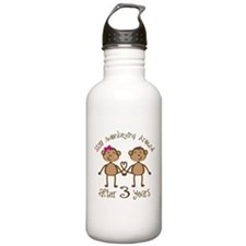 3rd Anniversary Love Monkeys Water Bottle